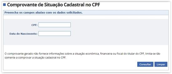 tirar-comprovante-situacao-cadastral-consulta-CPF