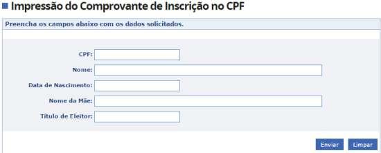 Formulário como imprimir CPF