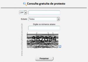 Consulta protestos grátis CPJ CNPJ